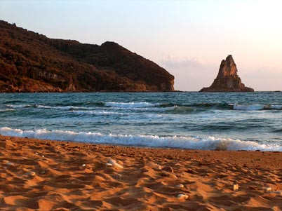 ag.gordios sandy beach and wonderful sea